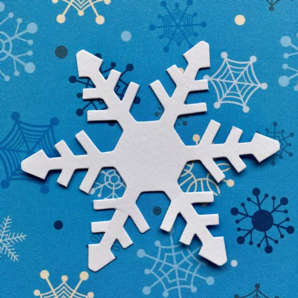 Stix-2 Die Cut Shapes White Snowflake 2
